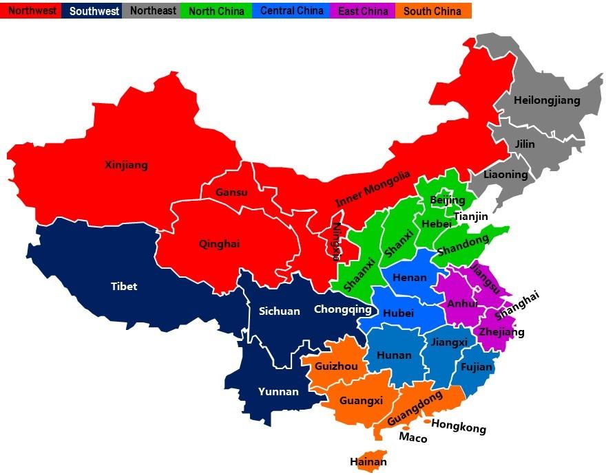 Cartina Cina Con Province.Entrare E Svilupparsi In Cina Parte 2 L Analisi Dei Dati Demografici Ed Economici Channelblog
